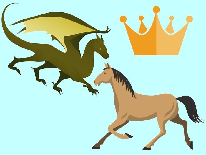 馬VS龍の争い