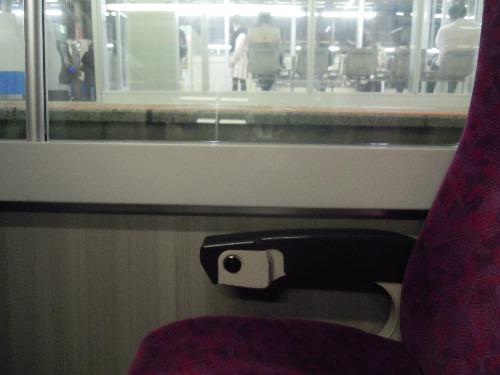 グリーン車の1階席の目線