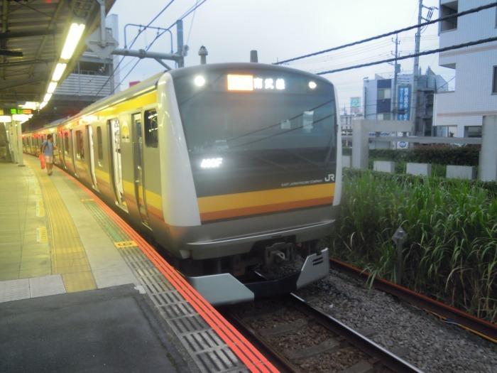 登戸駅の南武線