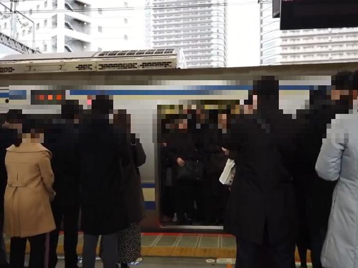 横須賀線武蔵小杉駅の混雑
