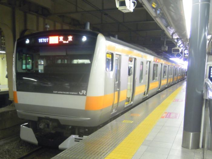 新宿駅のJR中央線
