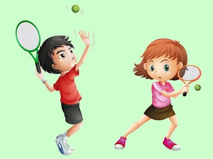 テニスを楽しむ子どもたち