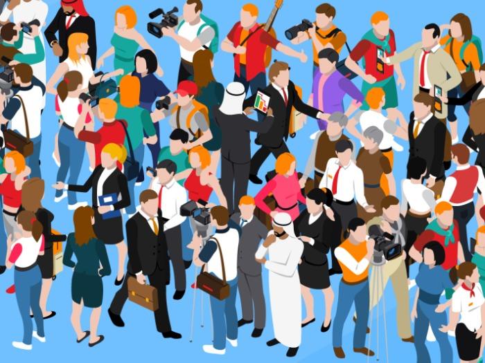 大都市の群衆