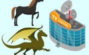 テレビ局と馬とドラゴン