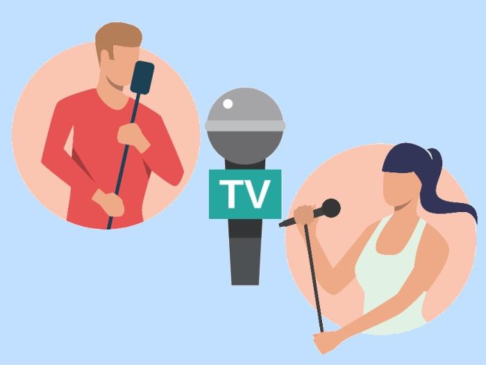 テレビと歌手
