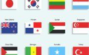 いろいろな国旗